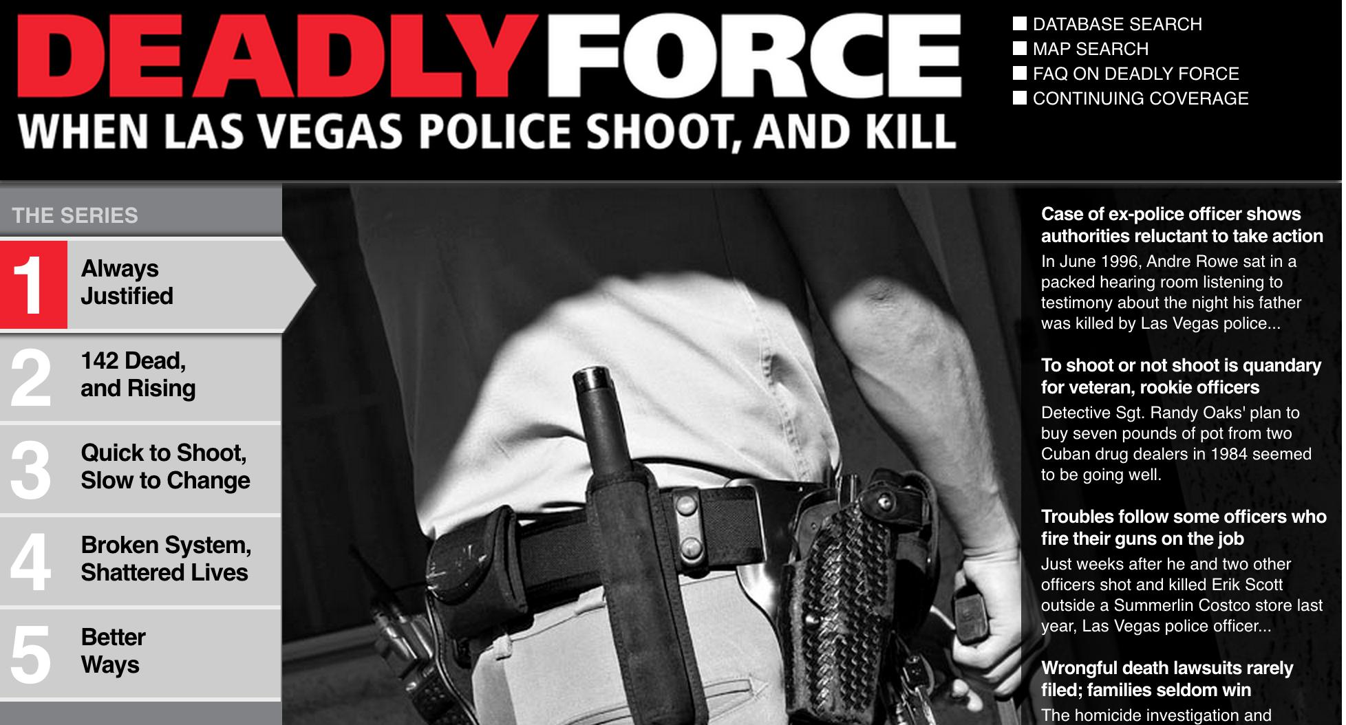 image Deadly Force: When Las Vegas Police Shoot, And Kill