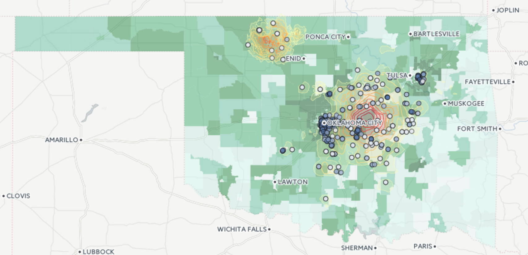 image Using PostGIS, SQL, and CartoDB to identify schools at risk from Oklahoma's earthquakes