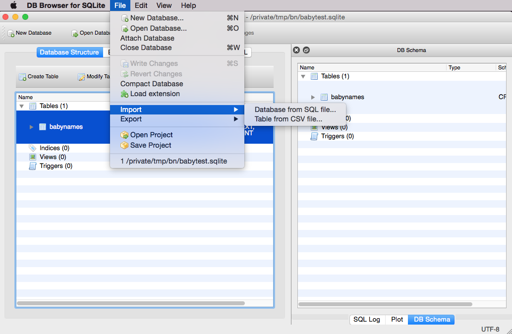 Creating Tables and Importing Data for Baby Names   Public